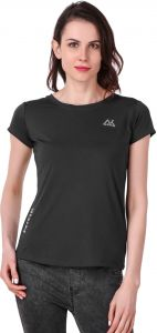 Waiverson Casual Plain Sports T-shirts For Women (black) (code -sport-tee-nivik-blk)