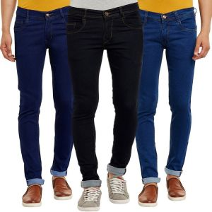 Jeans (Men's) - Waiverson Slim Fit  Men's Multicolor Jeans(Pack of 3) (Code - DP-1001-2-3-3DNM)