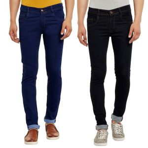 Jeans (Men's) - Waiverson Slim Fit  Men's Multicolor Jeans(Pack of 2) (Code - DP-1002-3-2DNM)