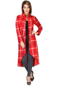 Iraa New Checked Long Women Shrug(code - Srg-5)