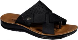 Bata Black Slippers For Men (code - Batagentsblackdottedslippers)