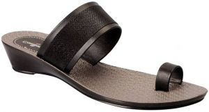 Bata Black Slippers For Women (code - Batacomfortinablackslippers)