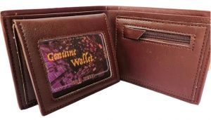 Kash Genuine Leather Wallet Coin Pouch Brown (code - Glbrcoin)