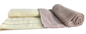 Bath linen - Krish 100% Cotton Bath Towel 600 GSM Light Brown   670 GSM Mustard Yellow ( Code - TWLBROWNMUSTYELLOW)