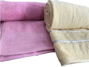 Bath linen - Krish 100% Cotton Bath Towel 670 GSM Mustard Yellow   580 GSM Pink ( Code - TWMYLW PINK)
