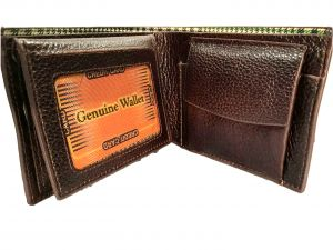 Gf Original Leather Wallet With 5 Credit Card Slots Brown (code - Olbrfl)