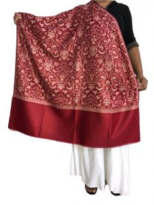 Krish Jamawar Shawl Stole Red For Women (code - Jmred)
