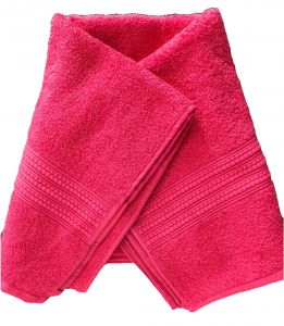 Bath linen - Krish 100% Cotton Bath Towel 450 GSM Red (Code - TWRED)