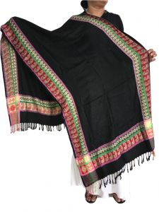 Krish Viscose Stole Shawl Black For Women (code - Vsblack)