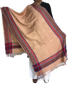 Handloom weaves - Krish Viscose Stole Shawl Golden For Women (Code - VSGolden)