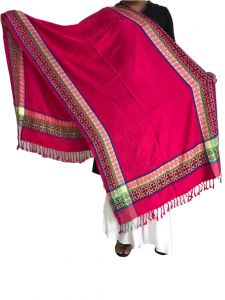 Handloom weaves - Krish Viscose Stole Shawl Pink For Women (Code - VSPink)