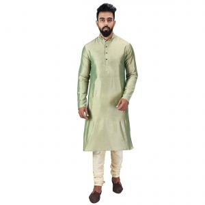 Limited Edition Cotton Silk Regular Fit Self Design Kurta Pajama ( Code - Akakkuset040)