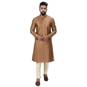 Limited Edition Cotton Silk Regular Fit Self Design Kurta Pajama ( Code - Akakkuset042)