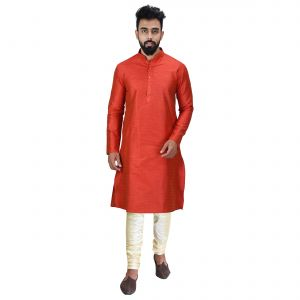 Limited Edition Cotton Silk Regular Fit Self Design Kurta Pajama ( Code - Akakkuset0049)
