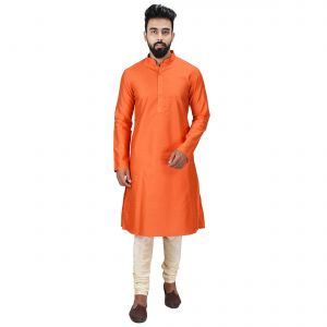 Limited Edition Cotton Silk Regular Fit Self Design Kurta Pajama ( Code - Akakkuset0051)