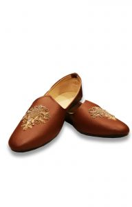Artificial Leather Brown Color Shoes For Men ( Code - Akakju002)