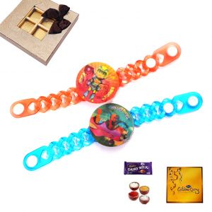 Set Of 2 Kids Designer Rakhi (code - 18014)