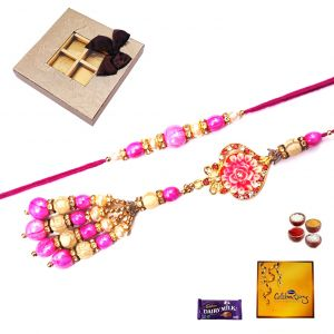 Rakhi Gifts To India-elite Style Bhaiya Bhabhi Rakhi (code - 32011)