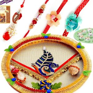 Rakhi Online-all-in-one Family Rakhi Set (code - Ssj133)