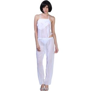Pyjamas & lounge pants - Fascinating Lingerie - 3-Piece Elegant See Through Pajama Set - (Code - FLPL3PESTPS01 )