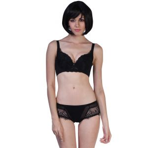 65300e433c Fascinating Lingerie - Alluring Embroidered Fascinating Bra With Matching Panty  Set - (code - Flplaefbbwmps01