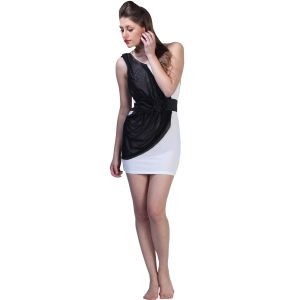 Fascinating Lingerie Dazzling One Shoulder Blacknwhite (code - Flpldosrbwcw001)