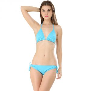 Fascinating Lingerie-cyan Bikini Set-(code-flplechlcbs01)