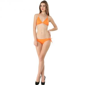 Fascinating Lingerie-orange Bikini Set-(code-flplechlobs01)