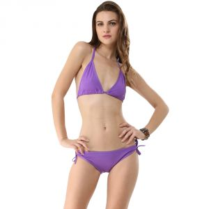 Fascinating Lingerie-purple Bikini Set-(code-flplechlpurplebs01)