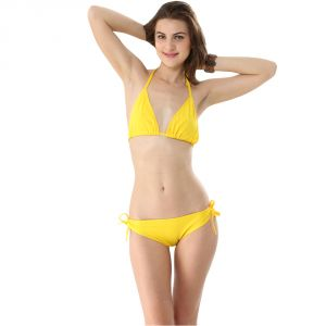 Fascinating Lingerie-yellow Bikini Set-(code-flplechlybs01)
