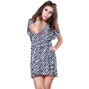 Fascinating Lingerie-fascinating Flirty Striped Kaftan-beach Dress-(code-flplffskbd01)