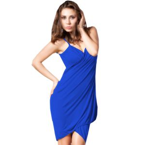 Fascinating Lingerie - Glamorous Open Back, Blue Bikini Cover Up Wrap Dress - (code - Flplgobbbcuwd01 )