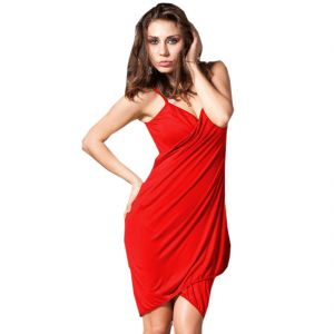 Fascinating Lingerie - Glamorous Open Back, Blood Red Bikini Cover Up Wrap Dress - (code - Flplgobbrbcuwd01 )