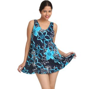 Fascinating Lingerie - Incredible Amusing Pretty Bold Floral Print Swim-cover Up - (code - Flpliapbfpwcp01)