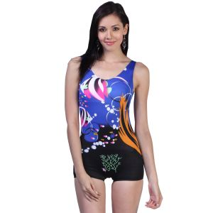 Fascinating Lingerie - Multi Colored Modern Print Adorable One Piece Swim-suit - (code - Flplmcmpaopss01)