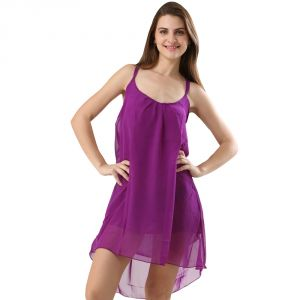 Fascinating Lingerie-one Piece Dress Spaghetti Strap Purple-flplopdssbmccspc01