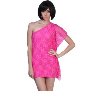 Fascinating Lingeri One Shoulder Pink (code - Flplosspncw001)