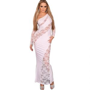 Fascinating Lingerie Trendy Ladies Evening Gown White Code - Flplpwtledegw01)