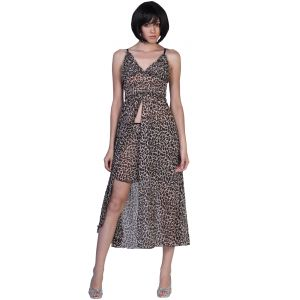 Fascinating Lingerie - Sweetheart Sheath Sweep Trailing Tiger Print Evening Gown - (code - Flplsssttpeg01 )
