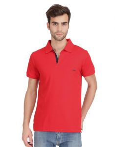 Kcjzoom Red Menz Tshirt - (code - 4003)