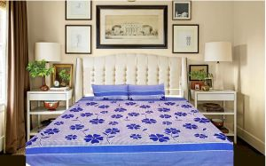Panipat Cotton Double Bed Sheet With Pillow Covers
