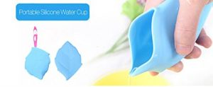 Creative Drinking Cup Leaf Shape Soft Silicone Mini Pocket Water Drinking Cup