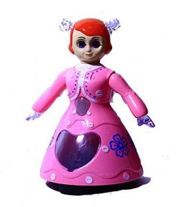 3d Dancing Princess Doll Musical Toy Gift For Kids (pink)