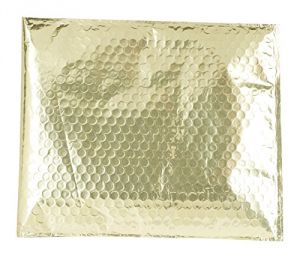 Abf Global Abf020101 Plastic Metallic Bubble Mailer, 7 Inches X 6 Inches, Gold (pack Of 10)