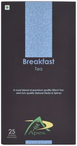 Apex- Breakfast Tea (herbal Tea) Green Tea Bags 25 Tea Bags