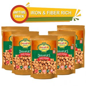 Dhampur Green Gur Chana 150gm ( Pack Of 5)