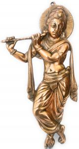 Iam Magpie,Johnson & Johnson,Medela,G,Philips Home Decor & Furnishing - NxTdooR INDIA Standing Murlidhar Sri Krsna Gun Metal Copper colored 45 Cms 1.020Kg