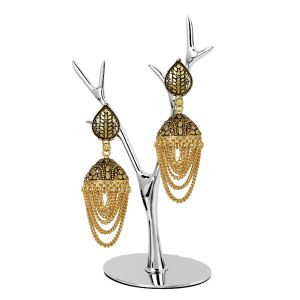 Piah Fashion Tradition Pear Shape Leaf Design Jhumki For Women