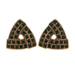 Piah Fashion Triangle Green Austin Diamond Earrings For Women
