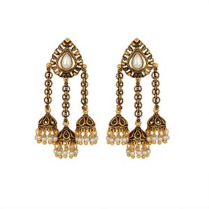 Piah Fashion Pear Shape Leaf Designer Jhumki For Women(code-9008)